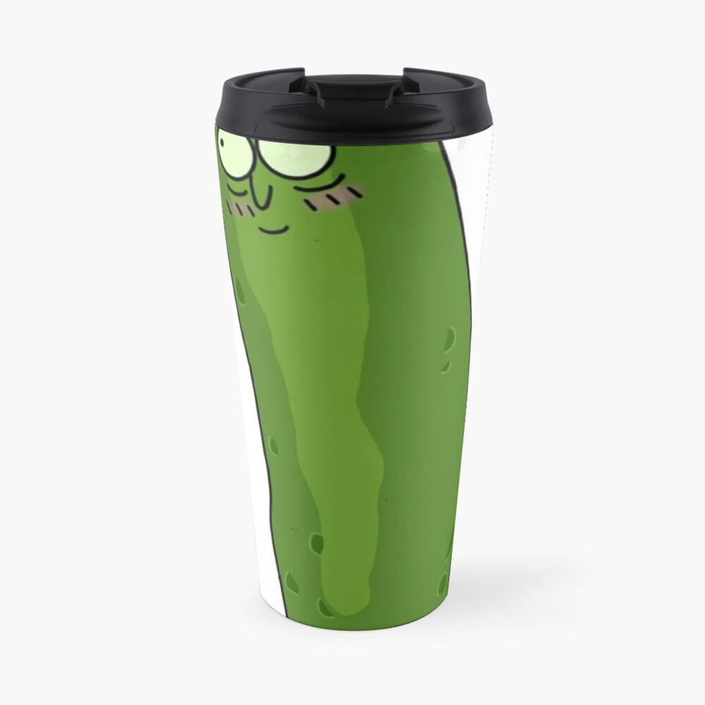 Cute Pickle Rick Travel Mug