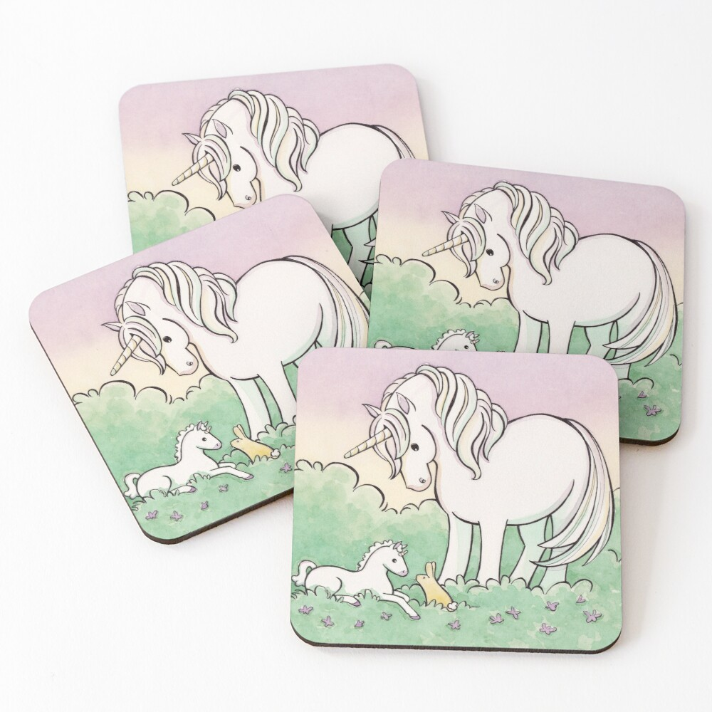 Baby Unicorn Coasters (Set of 4)