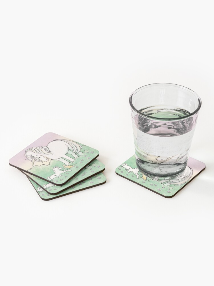 Alternate view of Baby Unicorn Coasters (Set of 4)