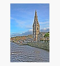 Saint Murdeachs Cathedral on the banks of the Moy Photographic Print