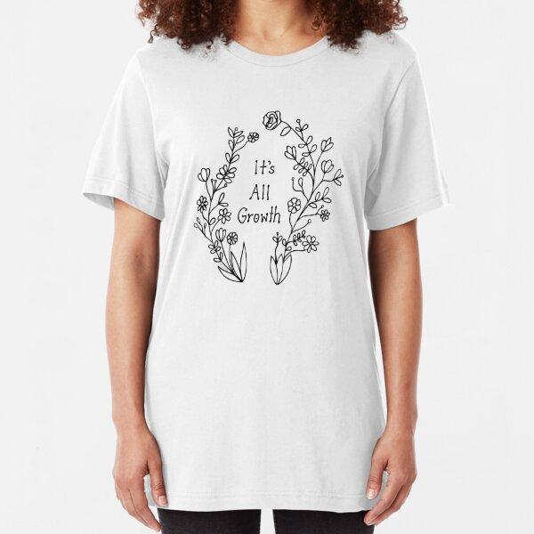 It's All Growth - Black Slim Fit T-Shirt