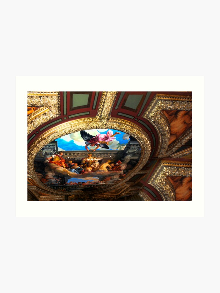 Michelangelo S Masterpiece Ceiling In The Vatican S Sistine Chapel Art Print