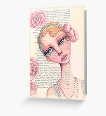 Flapper Girl Greeting Card