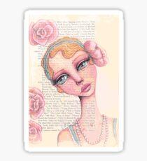 Flapper Girl Sticker