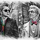 Crowley and Aziraphale Ineffable Husbands Rainbow Ties by orionlodubyal