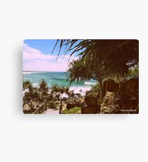 THE WOODEN WALKWAY Canvas Print