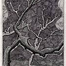 160 - TREES - DAVE EDWARDS - INK - 1988 by BLYTHART