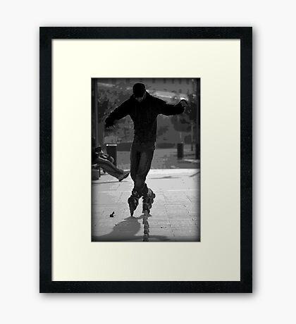 Trick Blader Framed Print