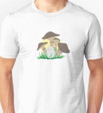 bird and mushrooms T-Shirt