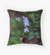 God made you (for Linda Makiej) Throw Pillow