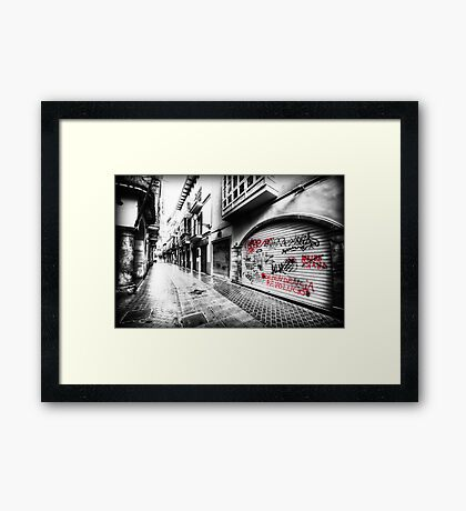 Old Town Palma Streets Framed Print