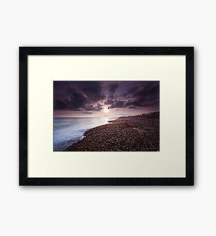 Into The Sun... Framed Print