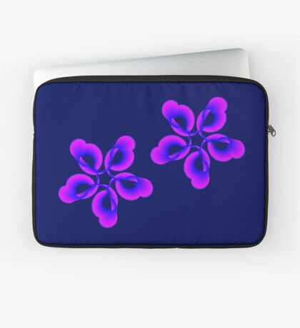 Spiral Pink Blue Abstract Flowers Laptop Sleeve