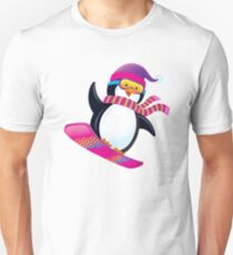 Cute Penguin Snowboarding T-Shirt