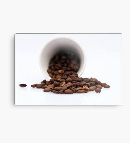 Spilled Coffee Beans Metal Print
