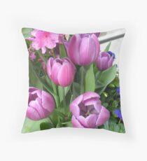 Tulip dreams Throw Pillow