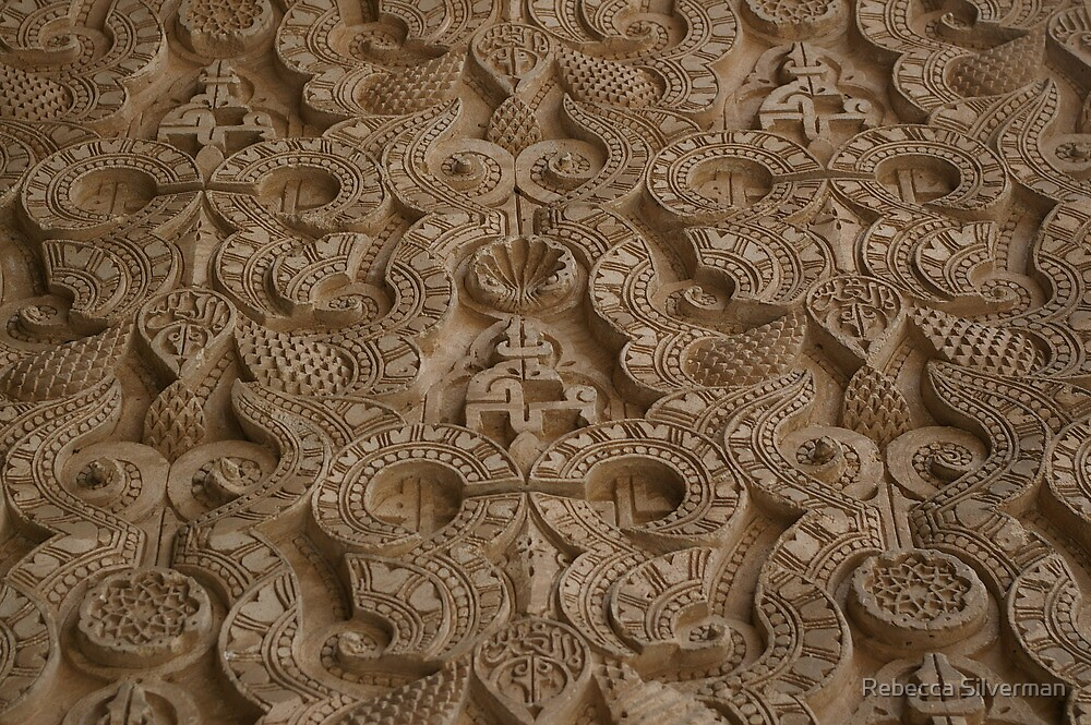 Ben Youssef Medressa wall decoration, Marrakech  by Rebecca Silverman