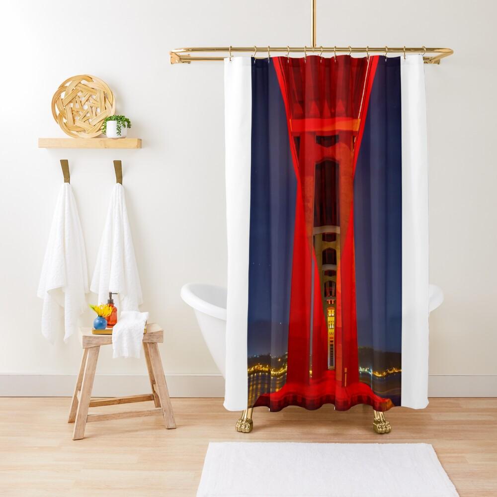 Red Tasman Shower Curtain