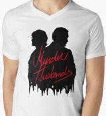 Murder Husbands [Black/Red] Men's V-Neck T-Shirt