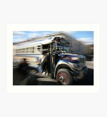 Chicken Bus Art Print