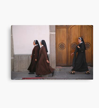 Nuns on the march Canvas Print