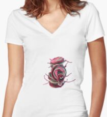 PICK PINK - piled like sweet macaroons -  Fitted V-Neck T-Shirt