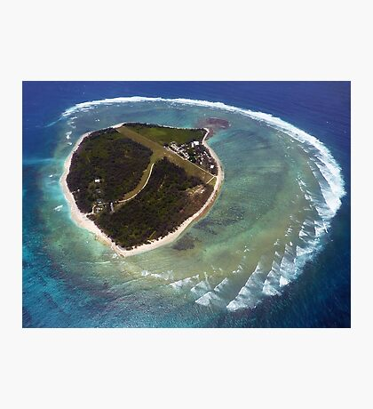 Approaching Lady Elliot Island Photographic Print