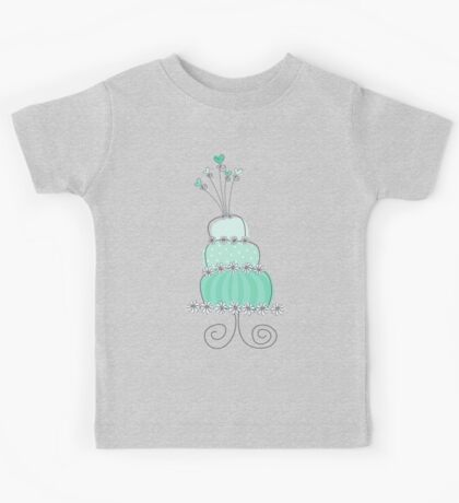 Sweet Mint Whimsical Wedding Cake Kids Clothes