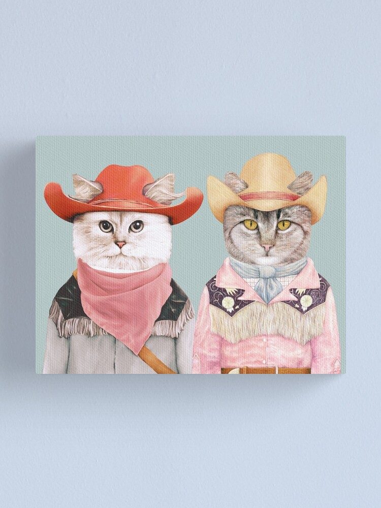 Alternate view of Cowboy Cats Canvas Print
