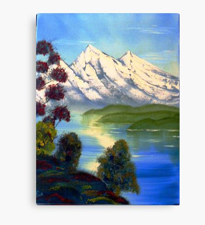 Snowy Mountains in Summer Canvas Print