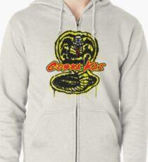 Cobra Kai Graffiti Style Design Zipped Hoodie