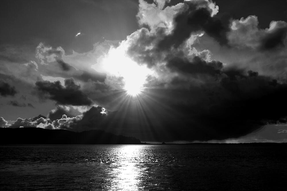 BW SUNSET by RoseMarie747