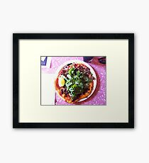 Pizza Agnello Framed Print