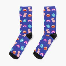 The Amazing World of Gumball - pixel pattern  Socks
