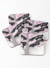 A tree in a storm - faith and truth Coasters