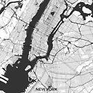 New York Karte grau von HubertRoguski