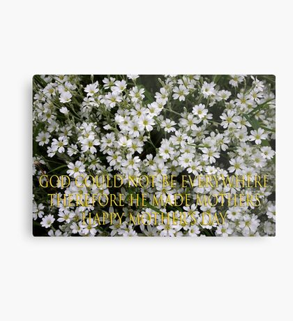 jewish mothers quote mother's day card Metal Print