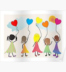 "Childrens Art ""Happiness"" Poster"