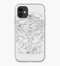 Come along with me outline version - Adventure Time iPhone Case