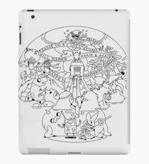 Come along with me outline version - Adventure Time iPad Case/Skin