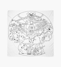 Come along with me outline version - Adventure Time Scarf