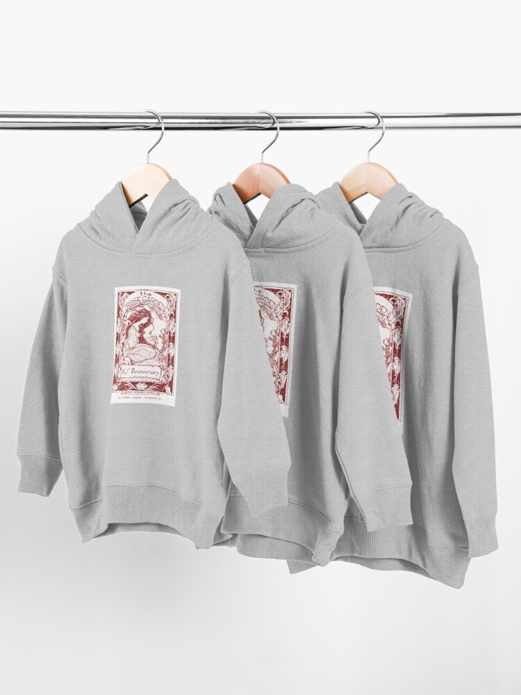 Alternate view of rose garden red Toddler Pullover Hoodie