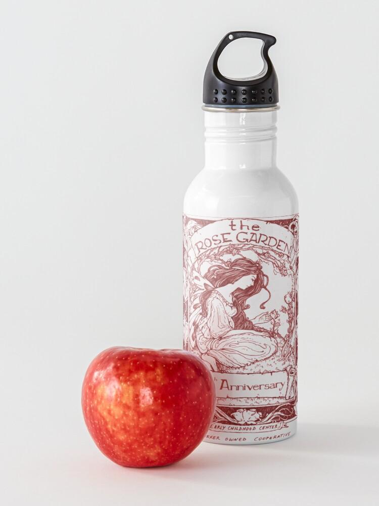 Alternate view of rose garden red Water Bottle