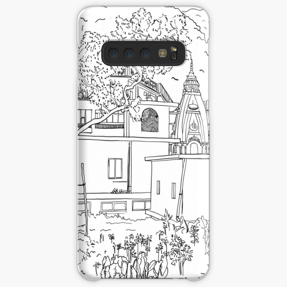 Rishikesh backyard BW sketch Case & Skin for Samsung Galaxy