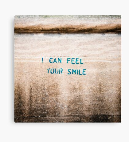 I Can Feel Your Smile Canvas Print