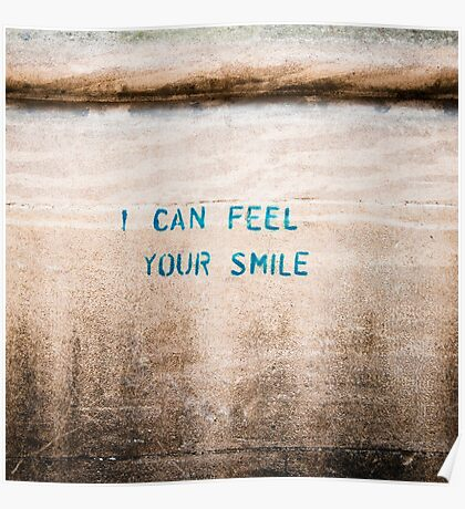 I Can Feel Your Smile Poster