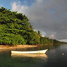Longboat at Panapompom by Reef Ecoimages