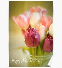 Happy Mother's Day with Tulips Poster