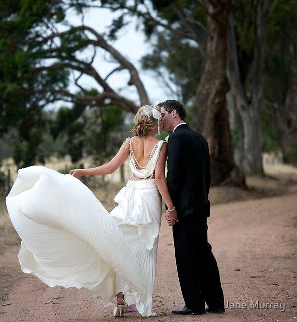Gorgeous gown blown in the wind by Jane Murray