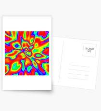 Abstract random colors #1 Postcards